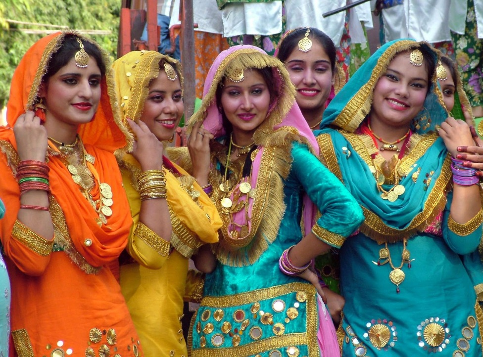Girls celebrating Lohri