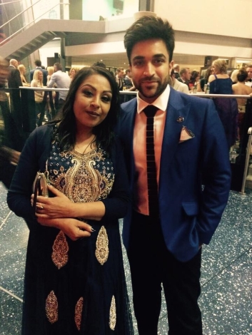 With Navin Kundra at Soap Awards